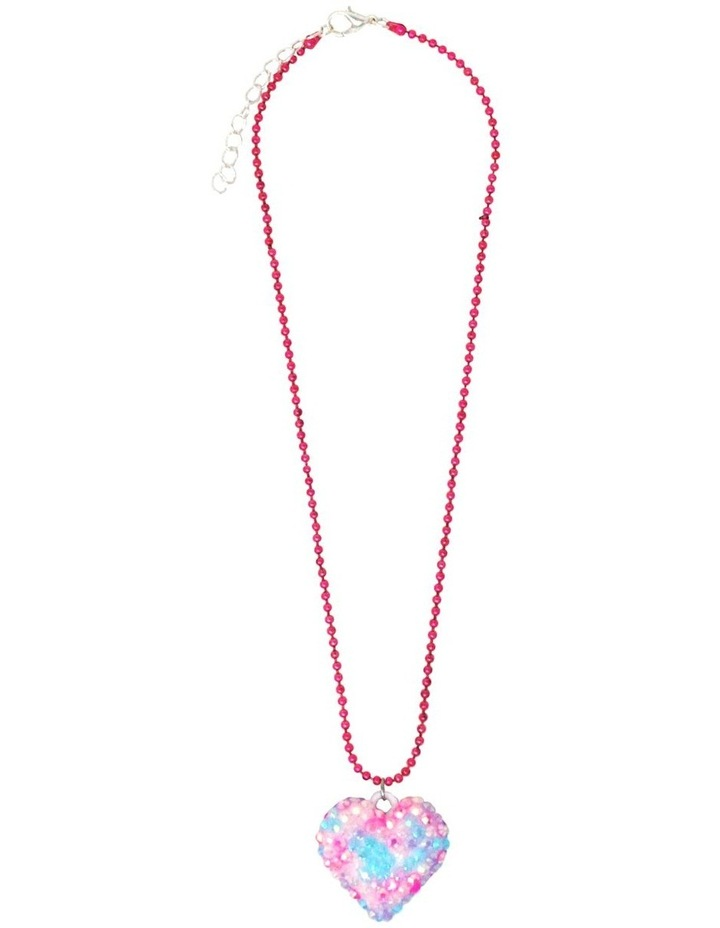 Rhinestone Heart Ball Chain Necklace - Available in 2 colourways . image 3