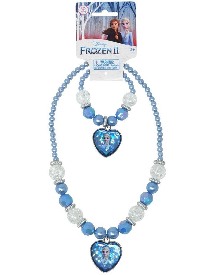 Disney Frozen 2 Elsa Necklace and Bracelet Set image 1