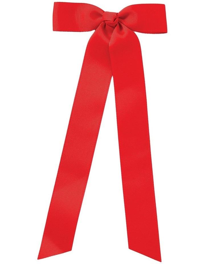 Streamer Grosgrain Bow Red image 1