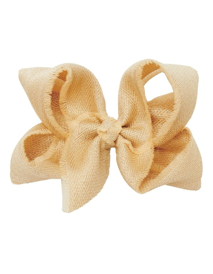 Medium Shimmer Chevron Bow - Gold image 1