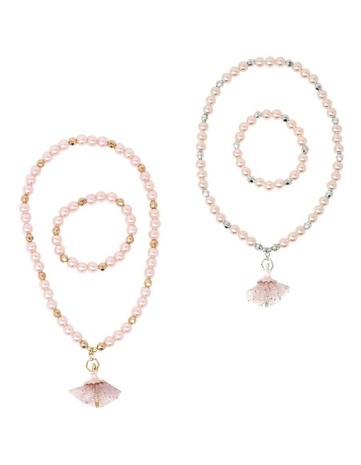 Little Ballet Dancer Necklace & Bracelet Set image 1