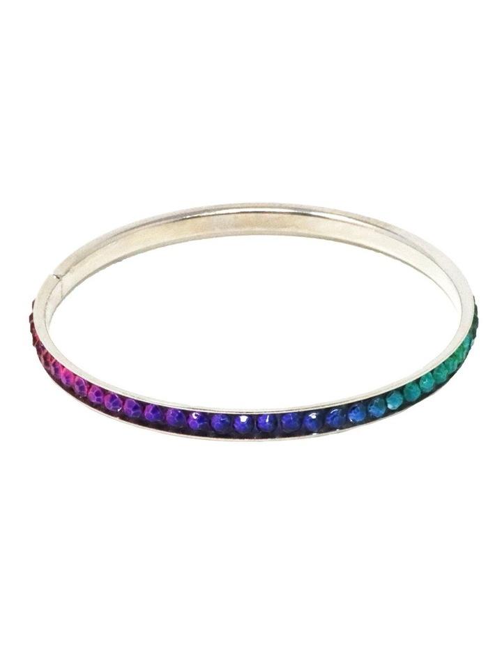 Rainbow Rhinestone Bangle image 1