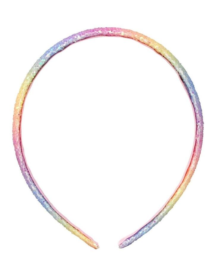 Rainbow Narrow Chunky Glitter Headband- Available in 2 colourways. Each sold seperately. image 2