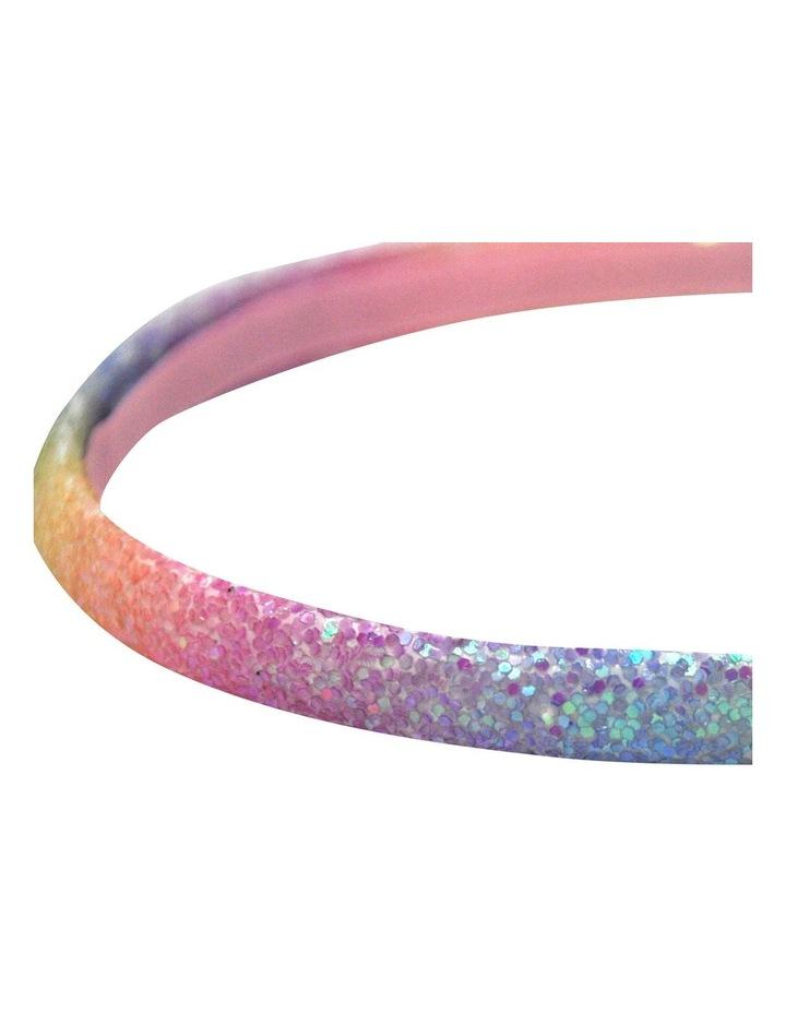 Rainbow Narrow Chunky Glitter Headband- Available in 2 colourways. Each sold seperately. image 3