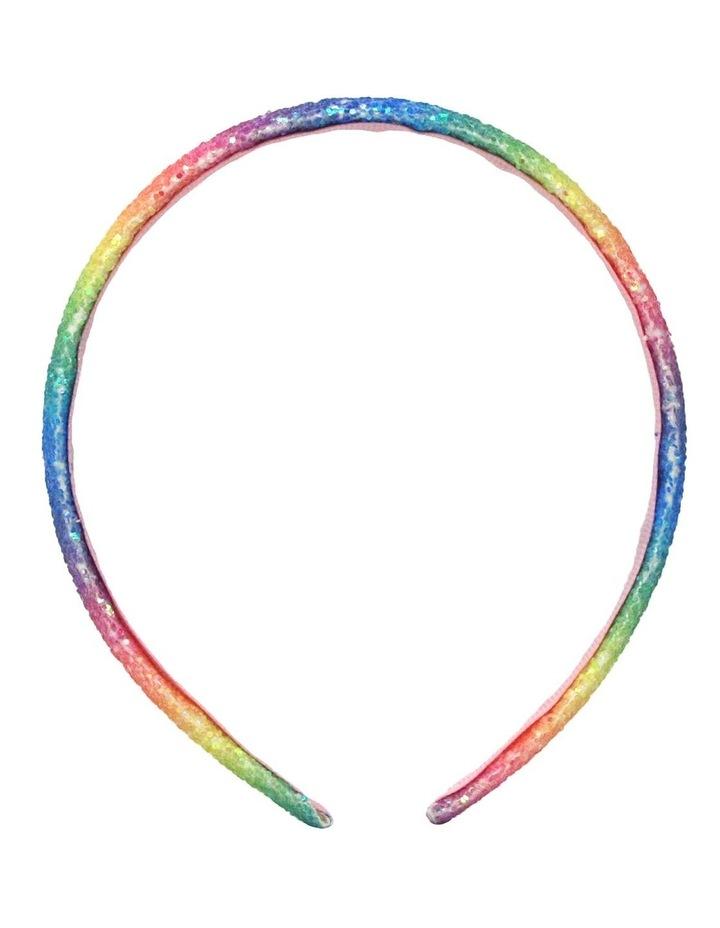 Rainbow Narrow Chunky Glitter Headband- Available in 2 colourways. Each sold seperately. image 4