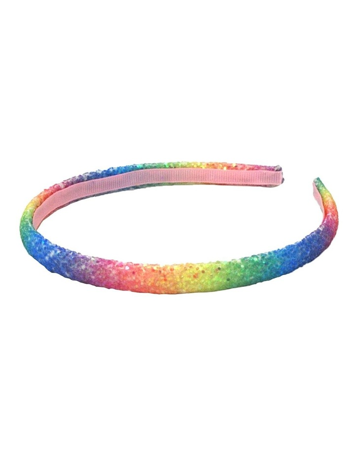 Rainbow Narrow Chunky Glitter Headband- Available in 2 colourways. Each sold seperately. image 5