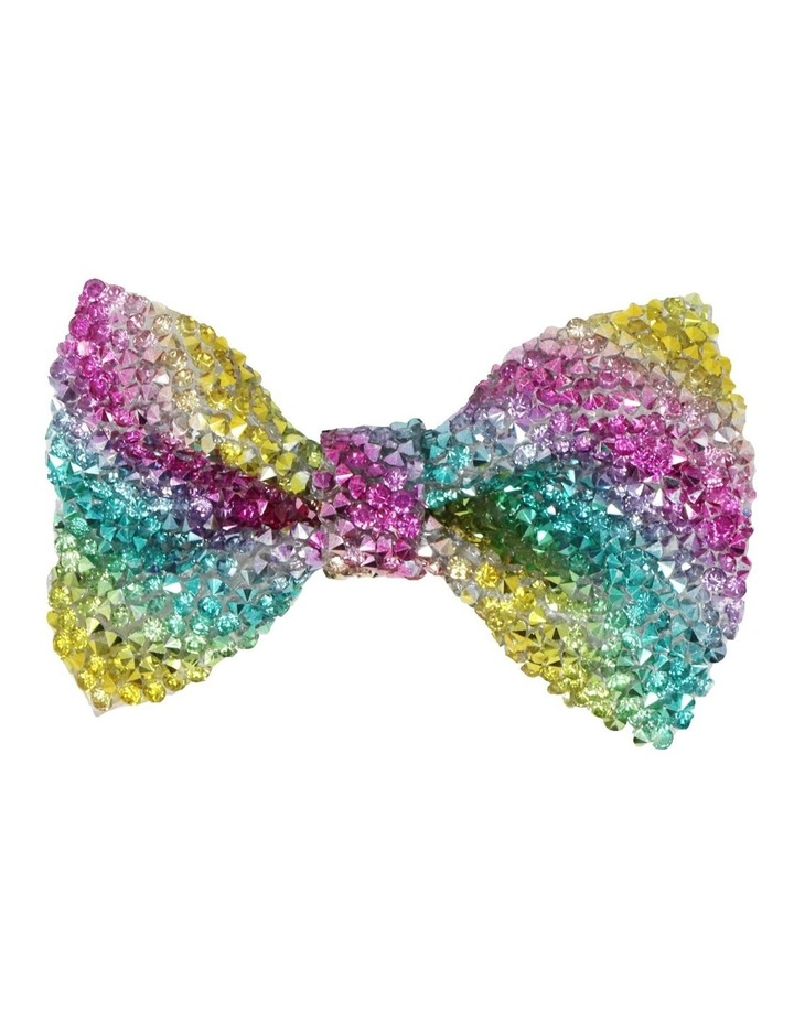 Encrusted Gemstone Hair Bow-Party. Available in 2 Colourways. Each sold Seperately image 2