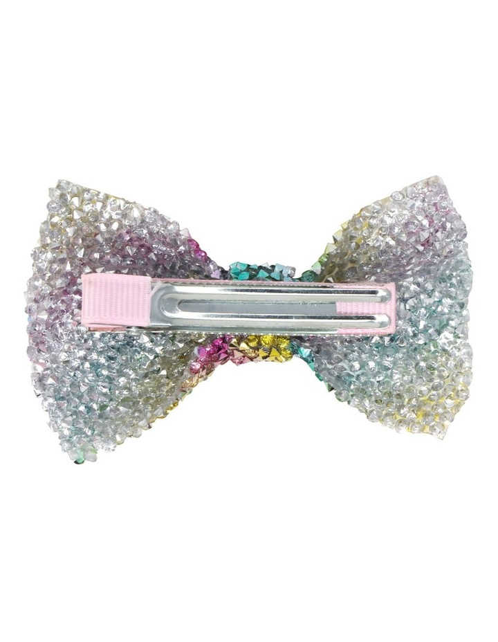 Encrusted Gemstone Hair Bow-Party. Available in 2 Colourways. Each sold Seperately image 3