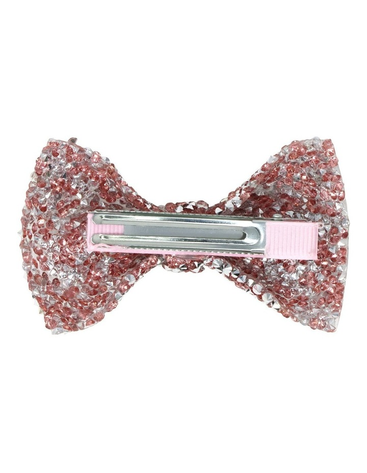 Encrusted Gemstone Hair Bow-Party. Available in 2 Colourways. Each sold Seperately image 5