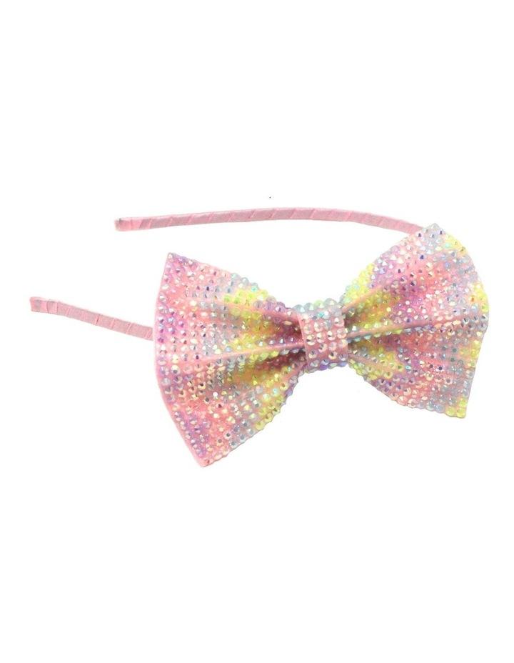 Pastel Gemstone Bow Headband image 1