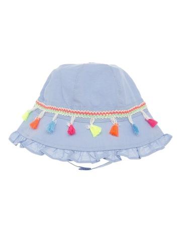 3c1c1f1acf431 Sprout Girls Denim Bucket Hat with Tassels