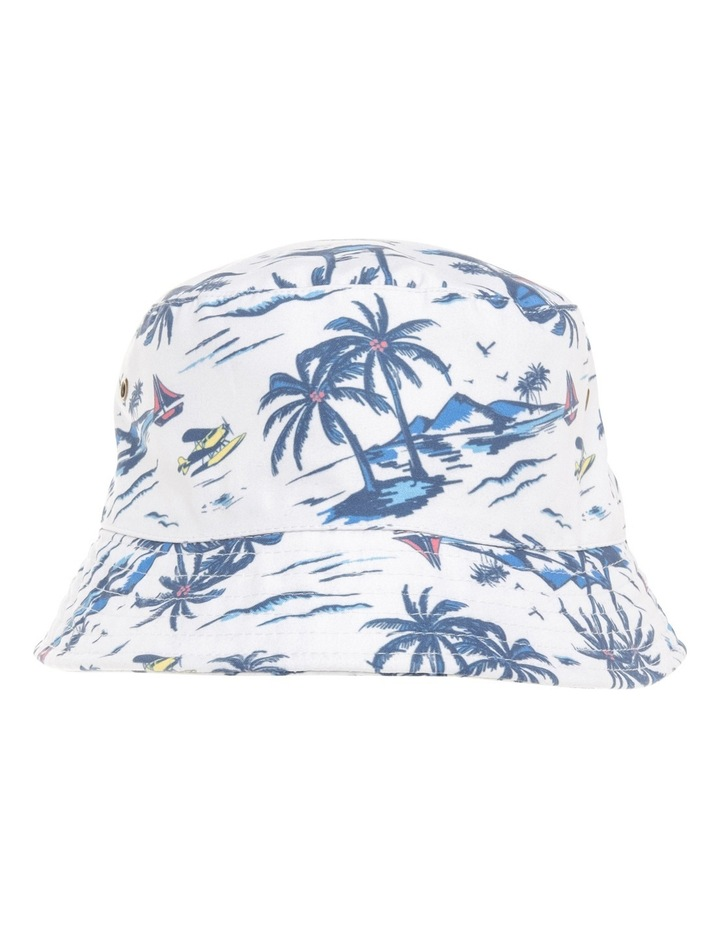Boys Bucket Hat with Palm Print image 1
