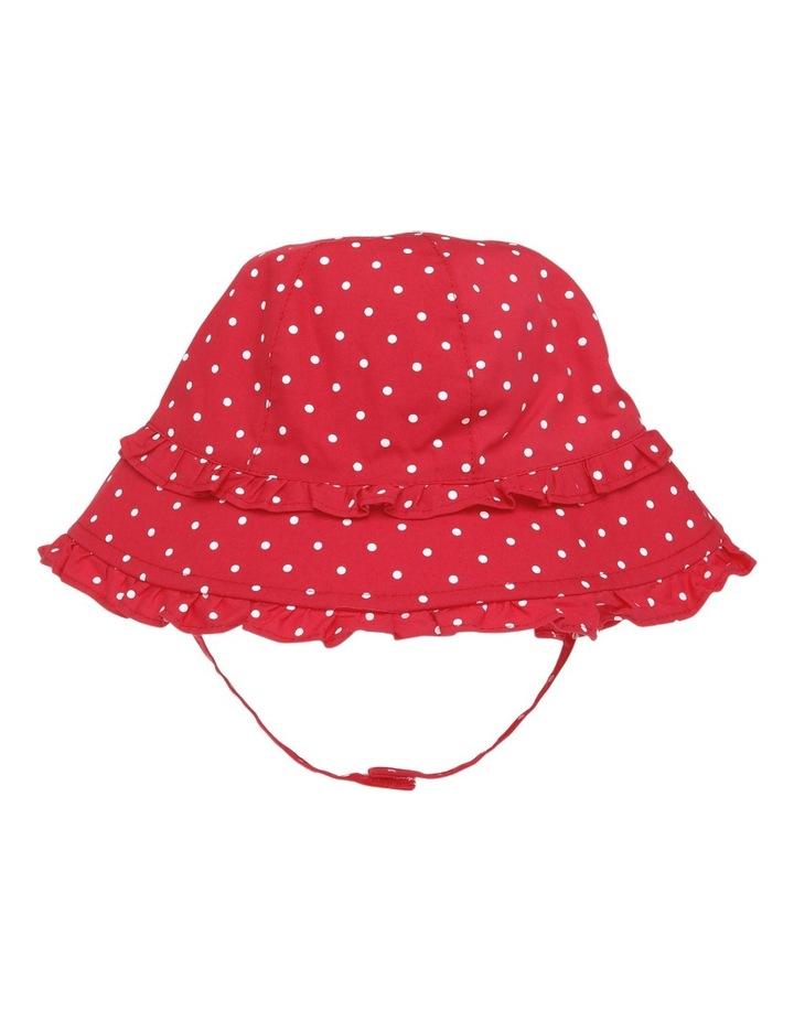 Girls Polka Dot Frill Hat image 1