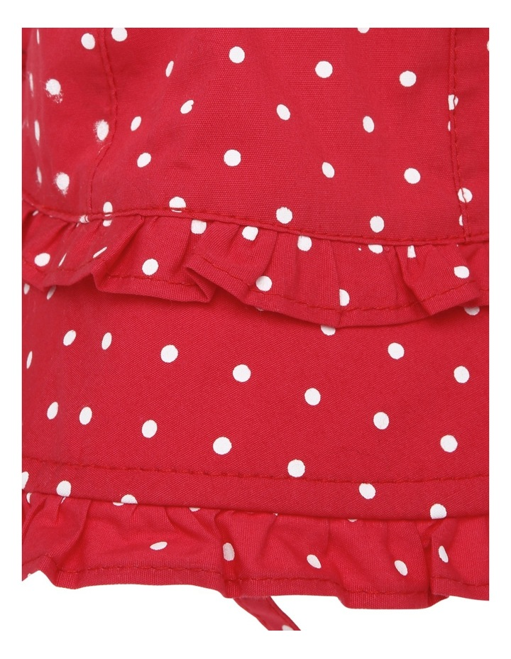 Girls Polka Dot Frill Hat image 3