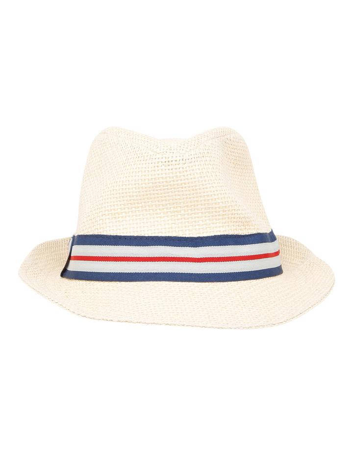 Boys Open Weave Trilby Hat image 1