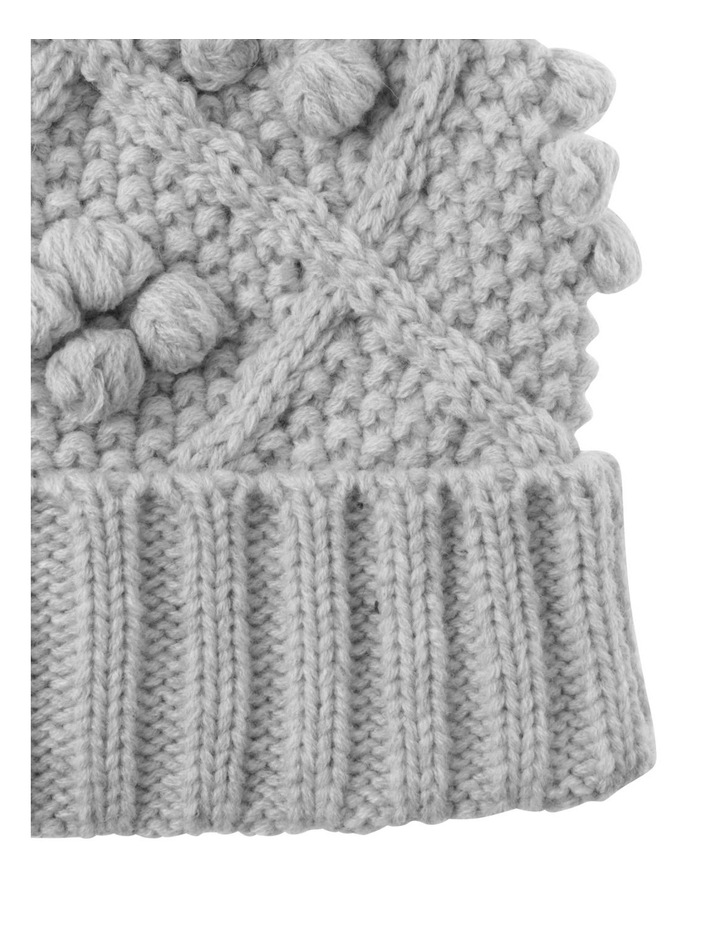 Girls Cable and Bobble Beanie image 2