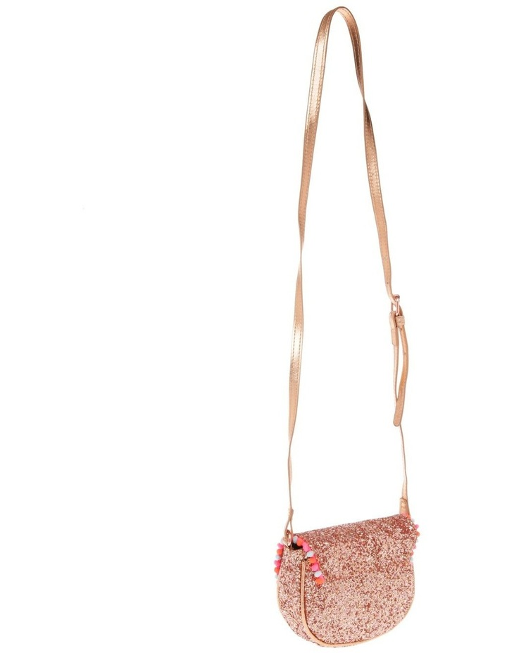 Glitter Rounded Bag with Pompom Trim image 2