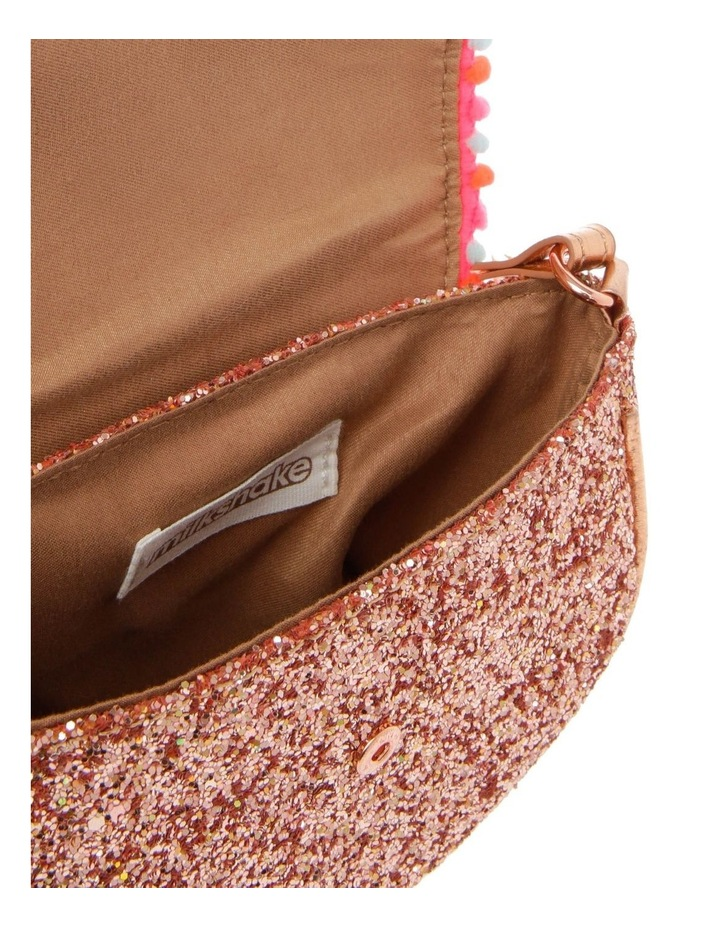 Glitter Rounded Bag with Pompom Trim image 3