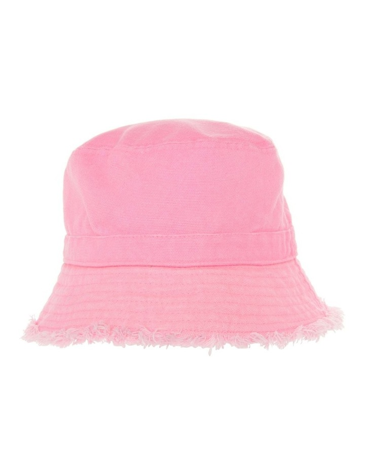 Pink Bucket Raw Edge Hat image 1
