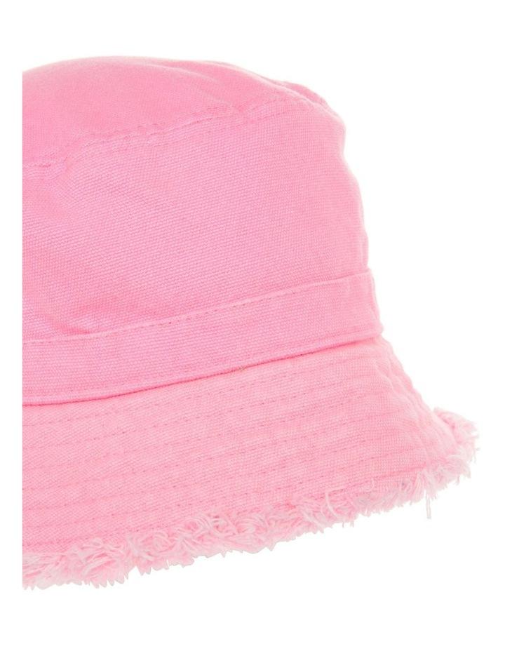 Pink Bucket Raw Edge Hat image 2