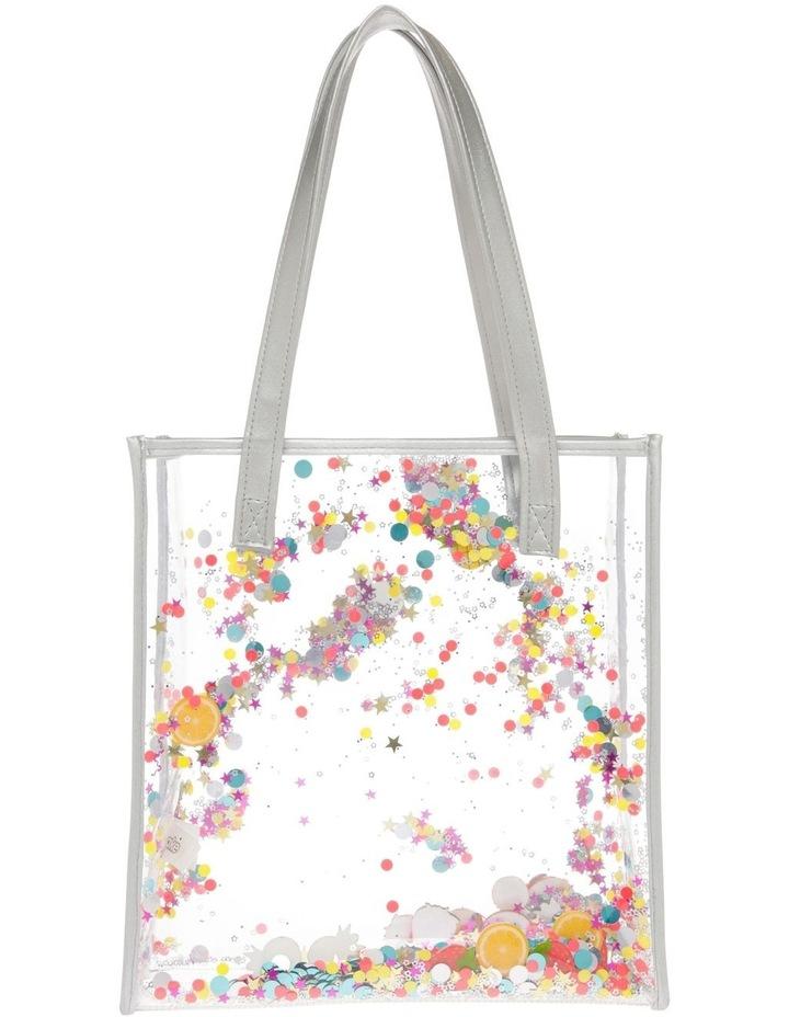 Aqua Plastic Glitter Bag - Star/Fruit image 1