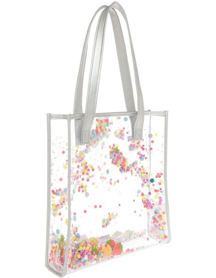 Aqua Plastic Glitter Bag - Star/Fruit image 2
