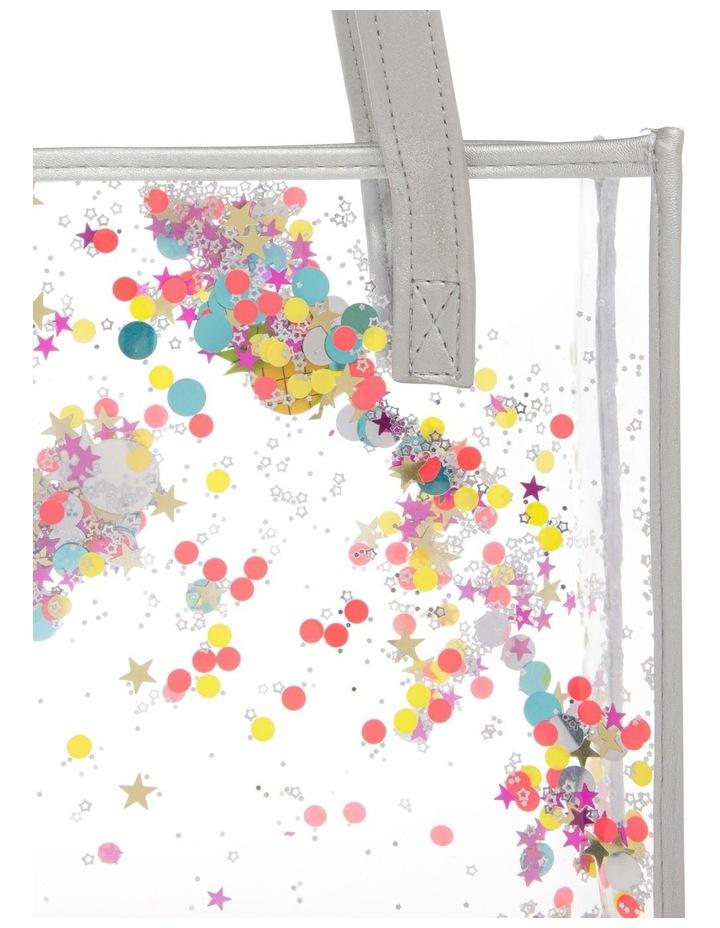 Aqua Plastic Glitter Bag - Star/Fruit image 3
