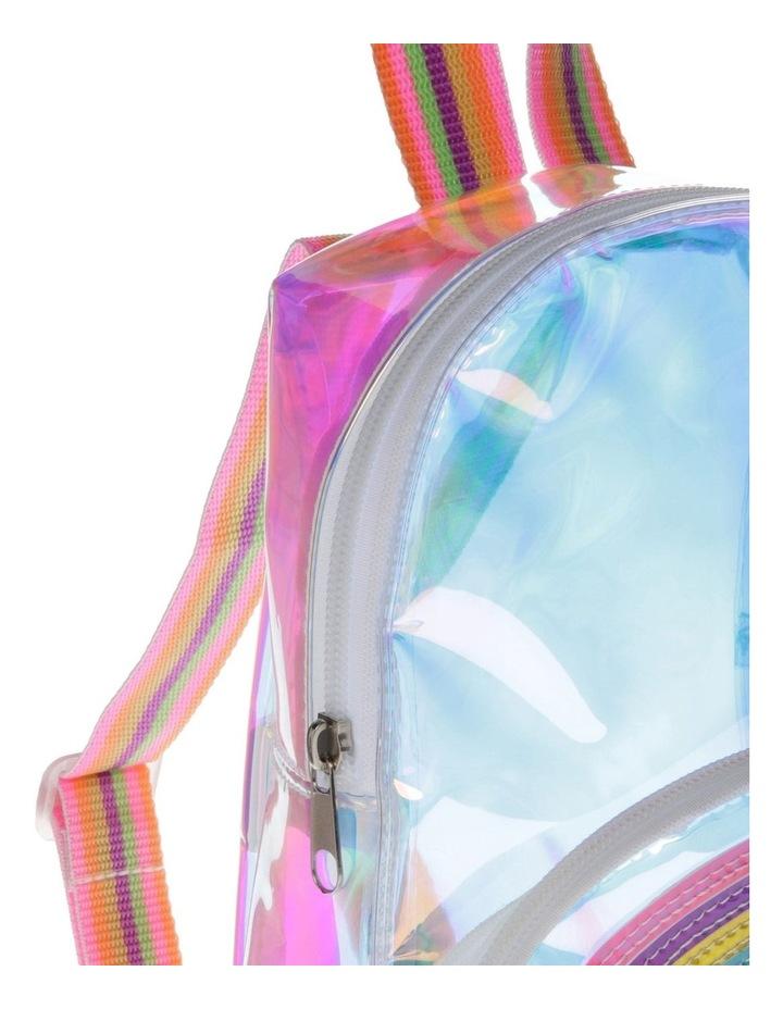 Iridescent Rainbow Mini Backpack image 3