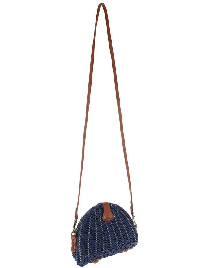 Wicker Shoulder Bag with Cowrie Shells image 2