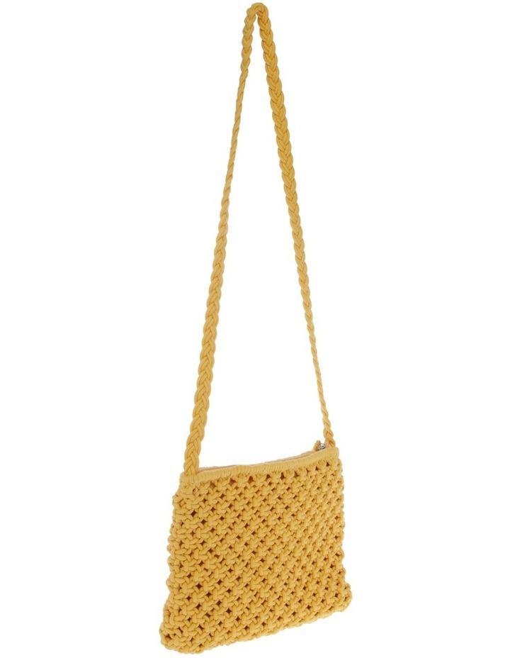 Macrame Shoulder Bag in Yellow image 2