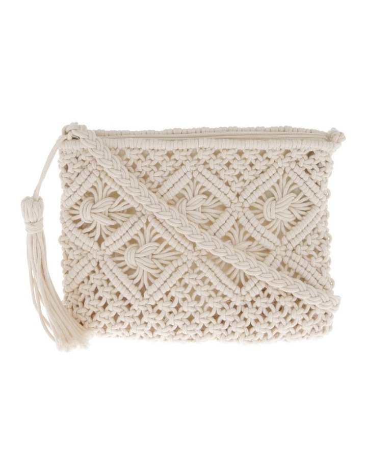 Macrame Shoulder Bag in White image 1