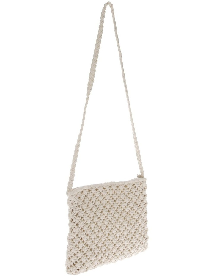Macrame Shoulder Bag in White image 2