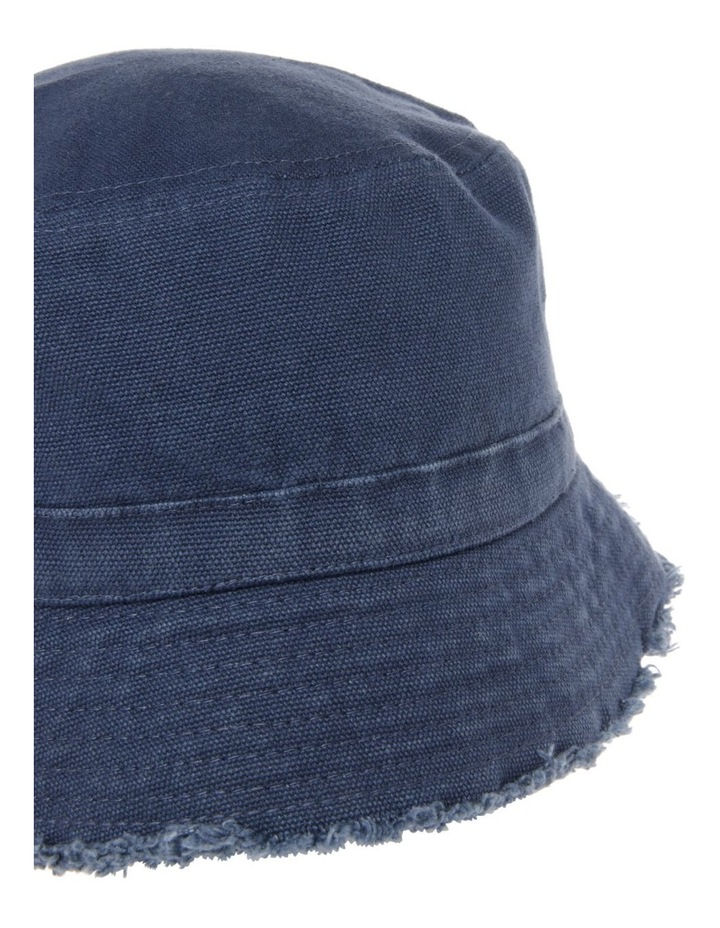 Canvas Raw Edge Bucket Hat image 3