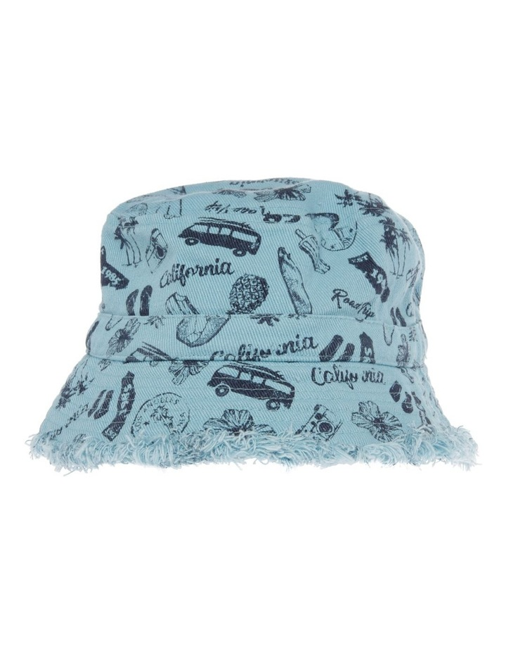 Canvas Raw Edge Printed Combi Bucket Hat image 1