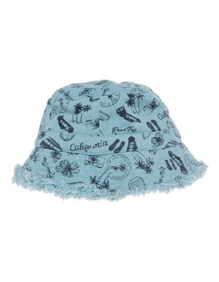 Canvas Raw Edge Printed Combi Bucket Hat image 2