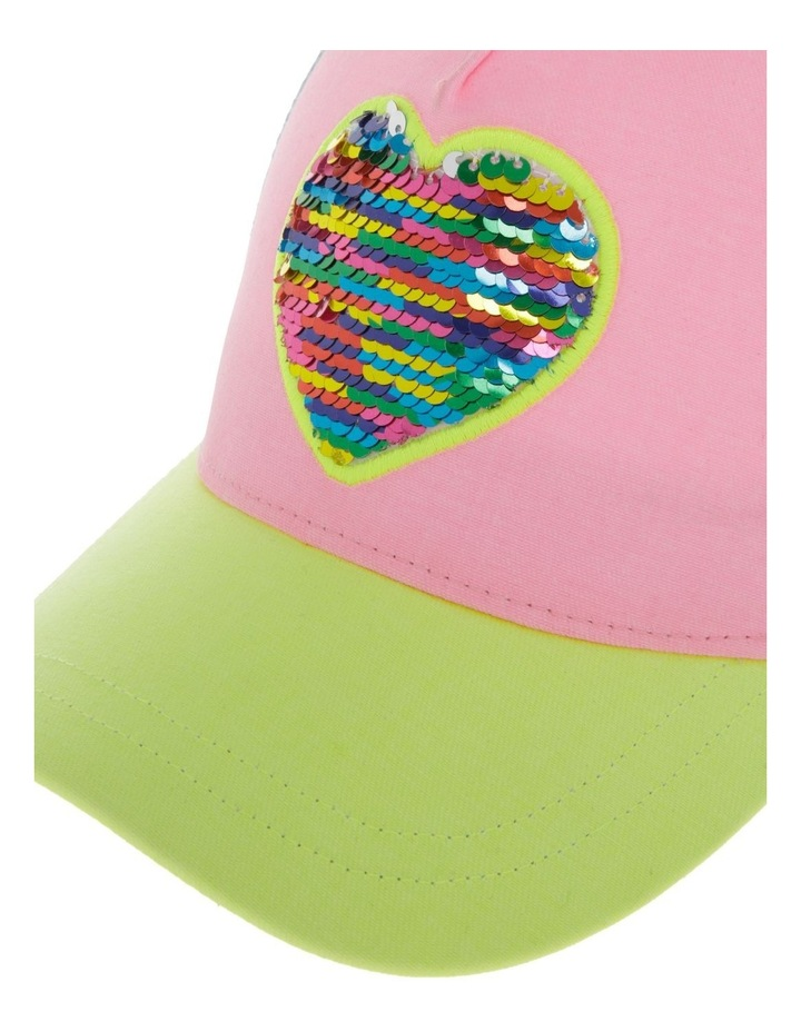 Colour Block Flip Sequin Heart Cap image 4