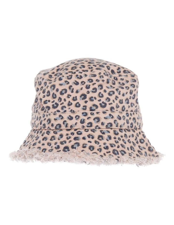 Raw Edge Leopard Print Bucket Hat image 1