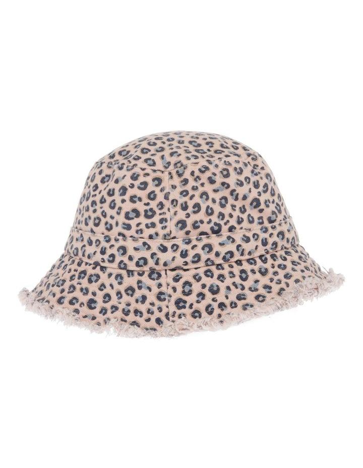 Raw Edge Leopard Print Bucket Hat image 2