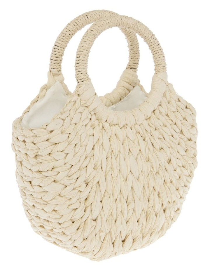 Straw Tote with Cowrie Shells image 2
