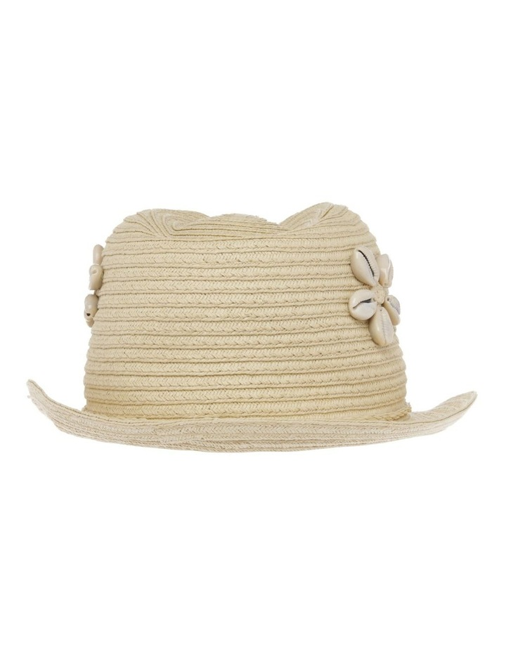 Straw Trilby with Cowrie Shells image 3