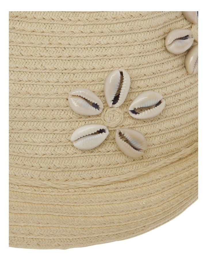 Straw Trilby with Cowrie Shells image 4