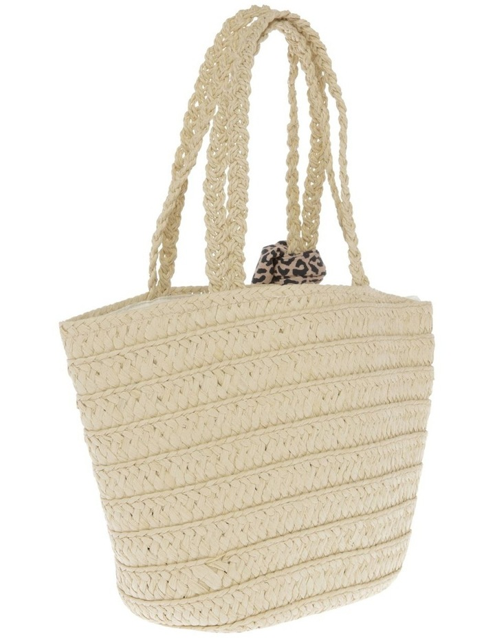 Straw Basket with Cowrie Shell Heart image 2