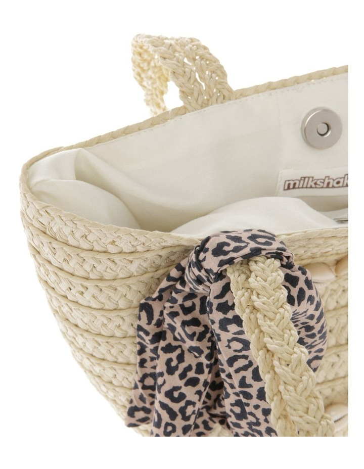 Straw Basket with Cowrie Shell Heart image 3