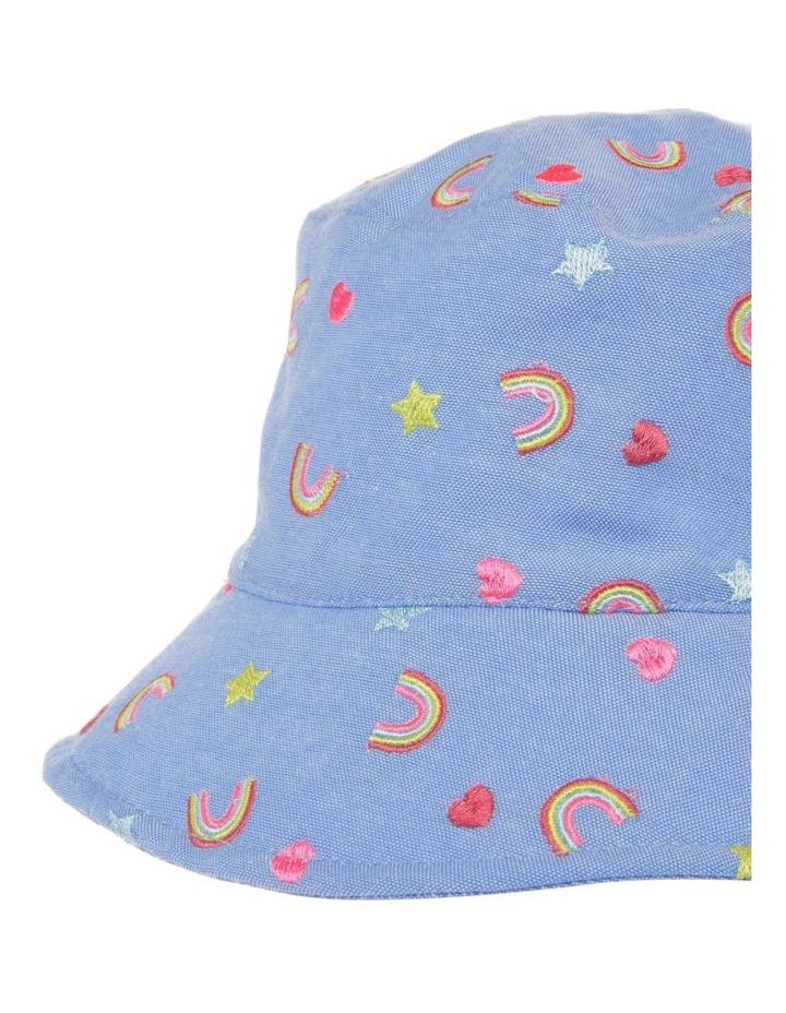 Denim Rainbow Embroidered Bucket Hat image 3