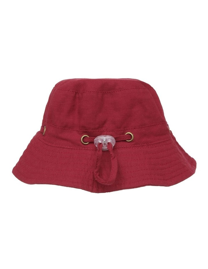 Mini Ripstop Hat with Toggles - Red image 3