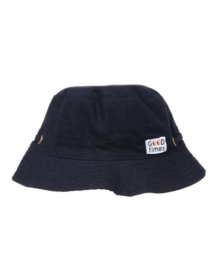 Mini Ripstop Hat with Toggles - Black image 1