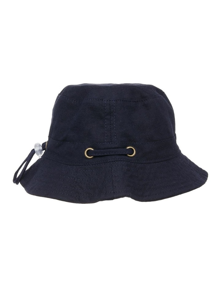 Mini Ripstop Hat with Toggles - Black image 2