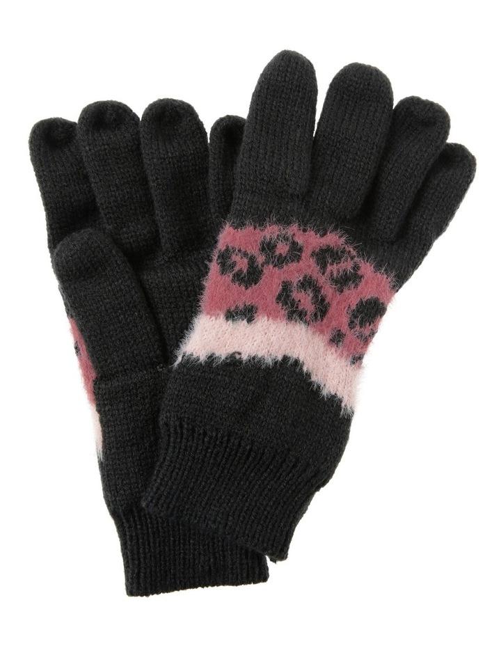 Chevron Leopard Print Gloves image 1