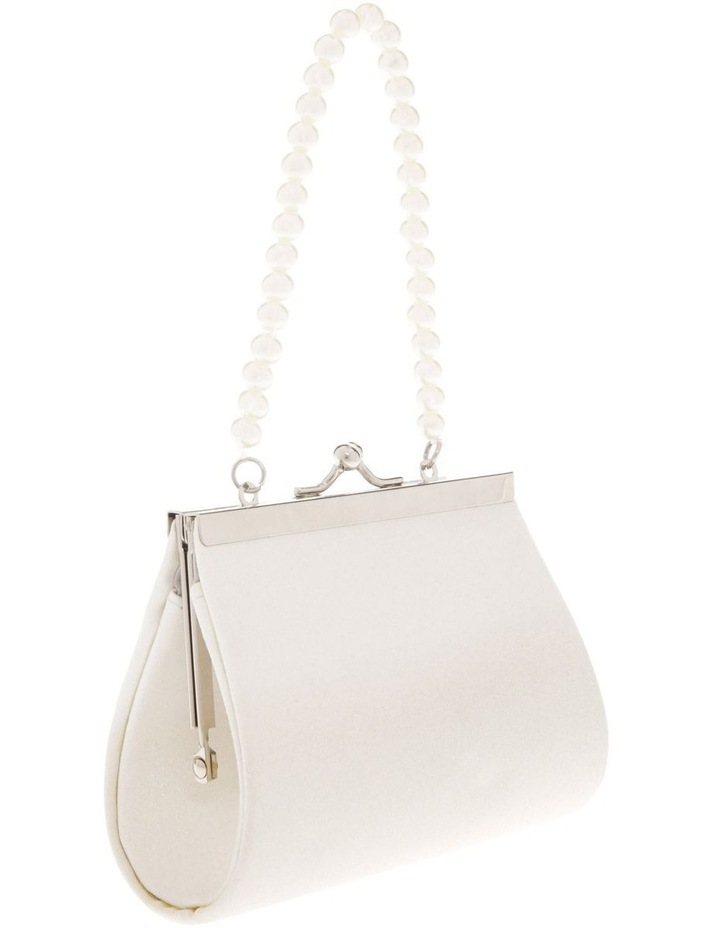 Cream Glitter Purse with Pearl Carry Strap image 2