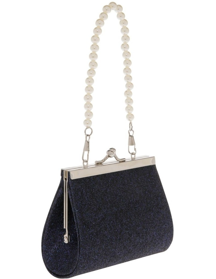 Navy Glitter Purse with Pearl Carry Strap image 2